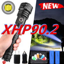 600000LM led flashlight XHP90.2 Flashlight power 26650 18650 battery powerful Tactical Flash light torch for outdoor hunting