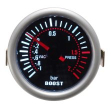 цена 2 inch 52MM Universal Car Turbo Boost Gauge 12V 2A LED Smoke Face Car Auto Bar Turbo Boost Gauge Meter