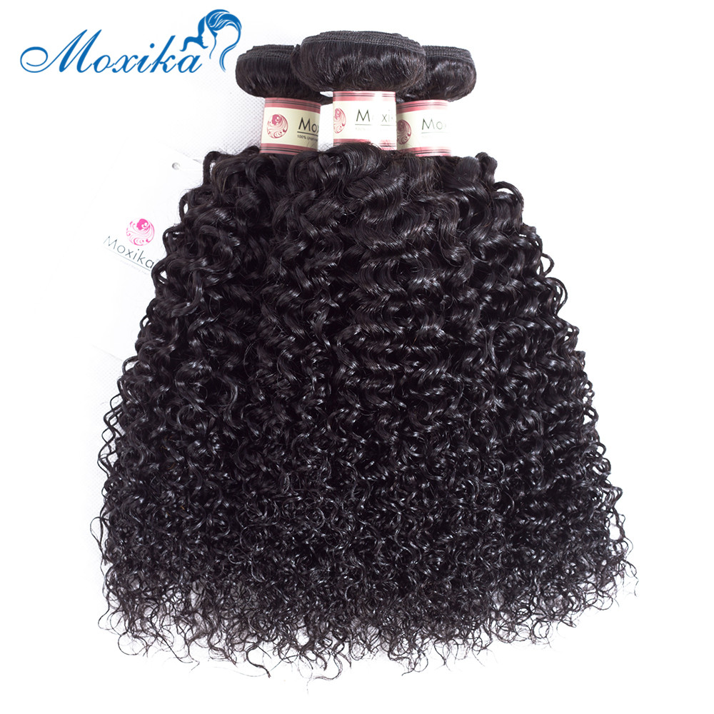 Image 4 - Moxika Hair Mongolian Kinky Curly Hair 1/3 Bundles Low ratio 8 26 inches Remy Human Hair Weave Hair Extensions Natural Black-in Hair Weaves from Hair Extensions & Wigs