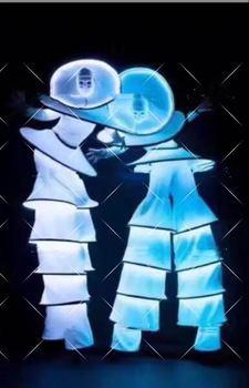 Robot Stilt Suit Stage led costume rgb lumious dance performance costumes Ballroom Catwalk Performance Clothes фото
