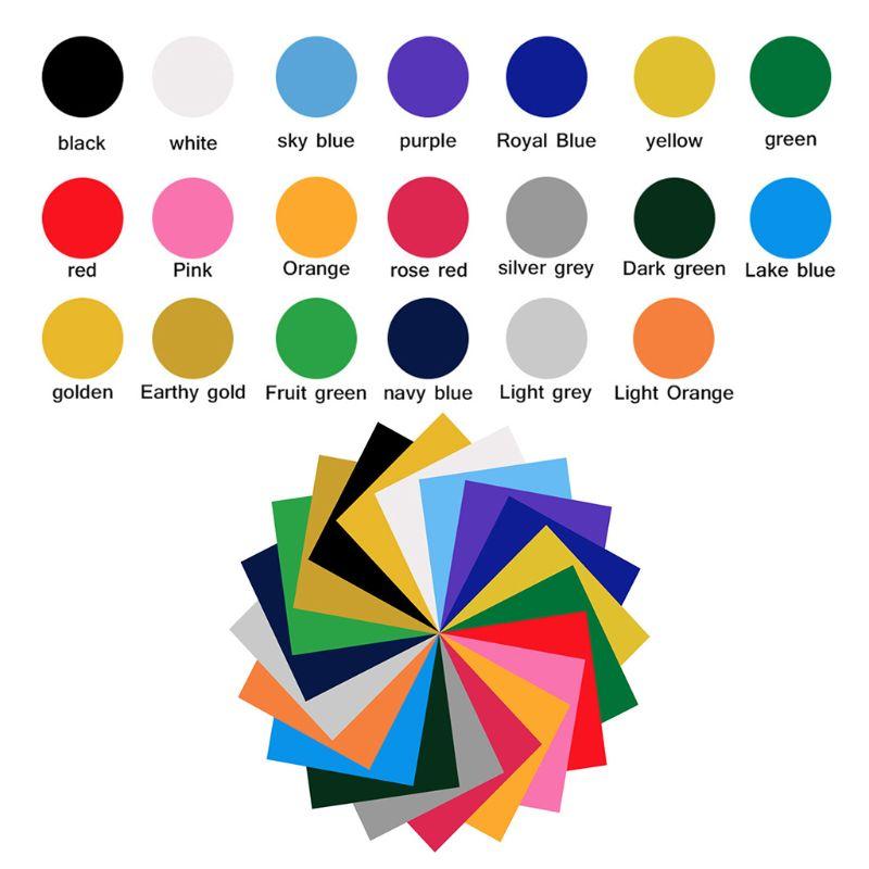 ΔHot DealsFilm-Sheets for DIY T-Shirts Heat-Press-Machine Iron-On-Adhesive Vinyl Printing Assorted-Colors