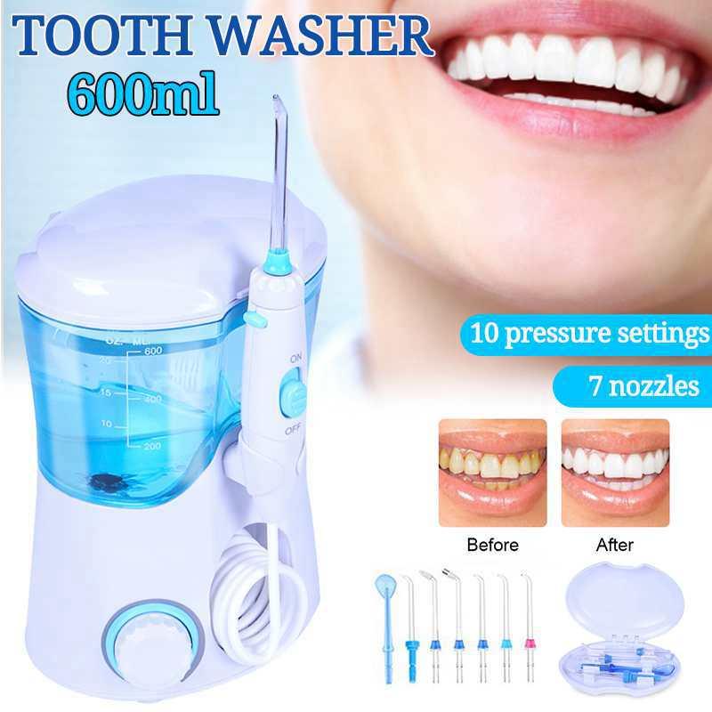 Nicefeel 600 мл водный Стоматологический Электрический ирригатор для полости рта уход за зубами водяная зубная щетка стоматологический спа-салон с 7 наконечниками белый