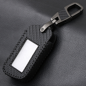 Image 4 - Carbon Fiber Style Leather A93 Car Key Case for Starline A39 A63 Two Way Car Alarm Remote Controller LCD Transmitter KeyChain