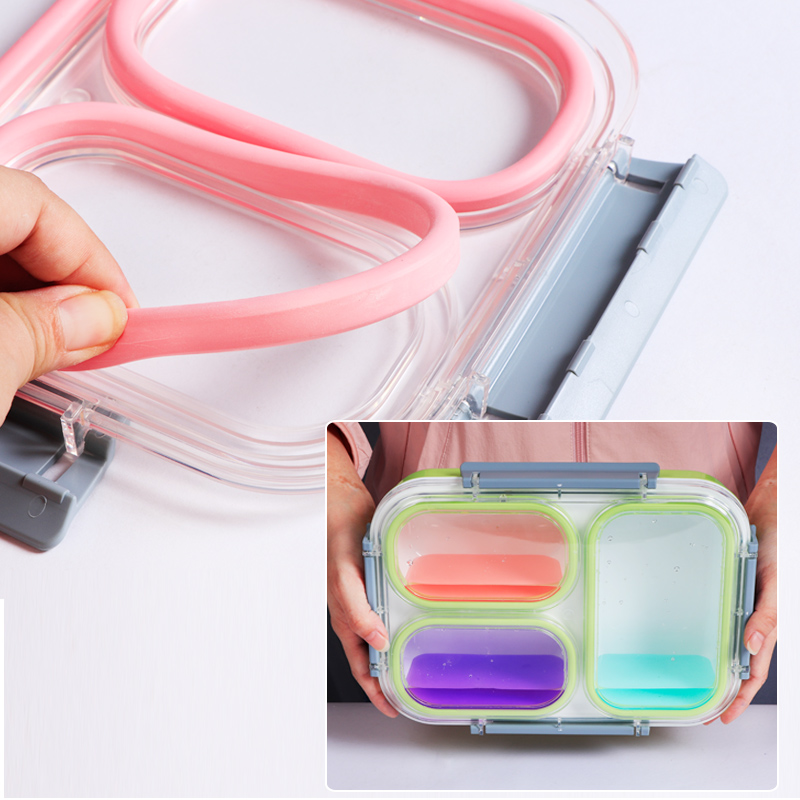 Image 4 - Leakproof Lunch Box Separate Compartments Children School Bento Box Food Container Microwave Dinnerware Lunch Box for Kids