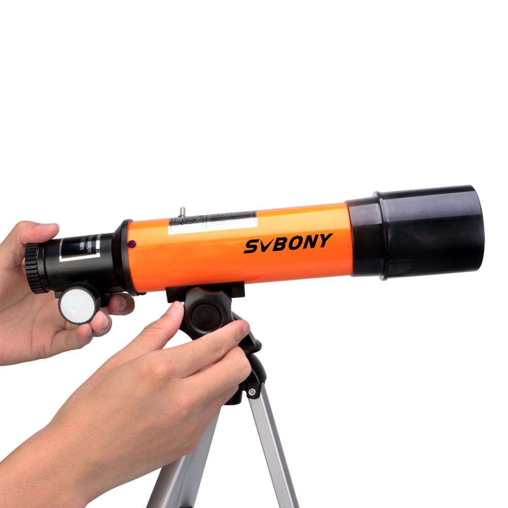 Tools : SVBONY SV502 Telescope for Kids 50mm Objective Lens and 5X20 Finder Scope for Exploring Moon Science Education