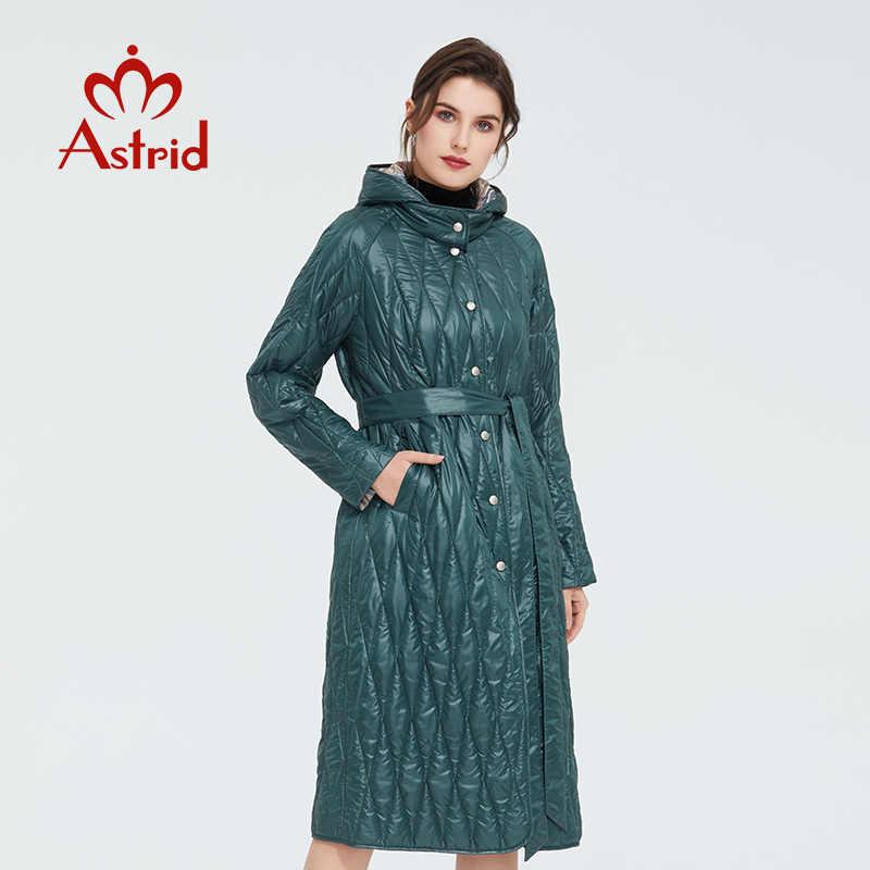 アストリッド 2020 春暖かい薄手のコットンジャケットロング а でゆったりとした衣服女性プラスサイズロングコートの女性 ZM-9428