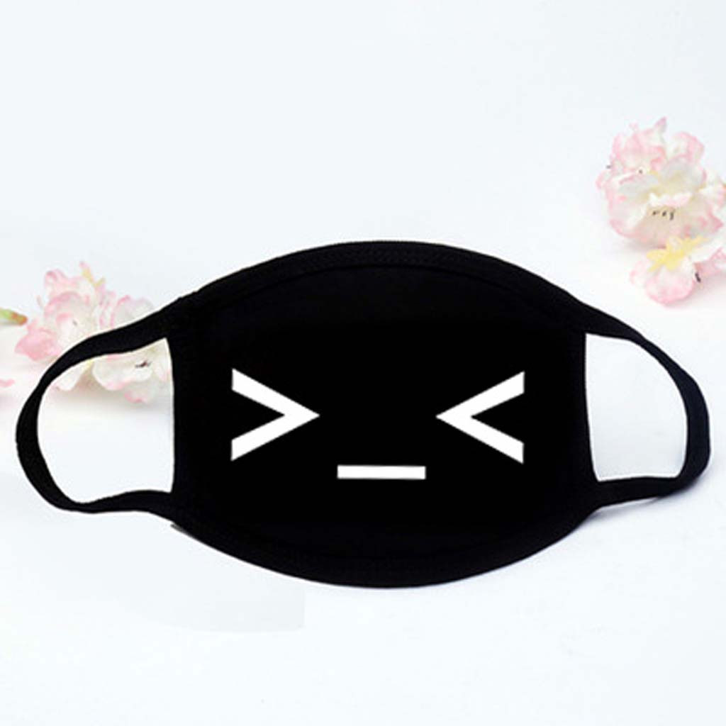 Face Mouth Muffle Mask Cute Unisex Women Men Cotton Face Masks Solid Black Mask Half Face Mouth Muffle K923