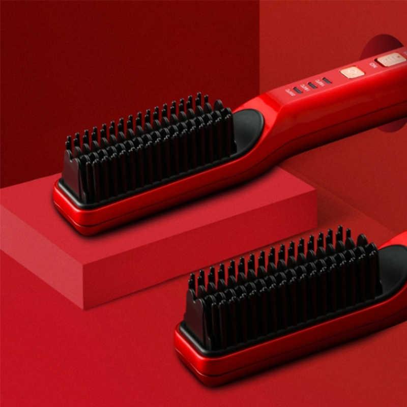 חשמלי מיישר ברזל ומסתלסל שיער Curler 2 ב 1 מחליק שיער שטוח מגהצים קרמיקה LED תצוגה