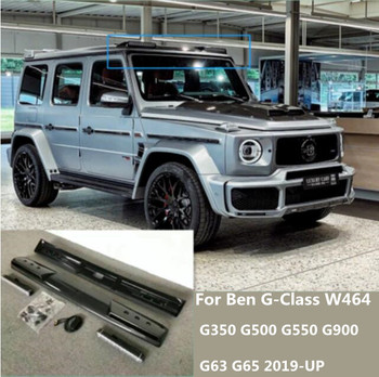 ABS Carbon Fiber Car Front Roof Wing Trunk Lip Spoilers With Lamp For Benz G-CLASS W464 G500 G550 G900 G63 G65 2019 2020 2021
