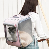 Transparent Large Cat Bag Travel Cat Carrier Pouch Cat Backpack Puppy Pet Products Mochila Transporte Gato Carrying Cat OO50XD