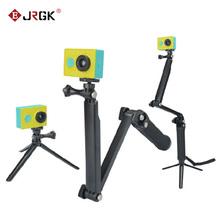 JRGK GoPro 3-drożny Monopod ArmMount regulowany stojak uchwyt uchwyt ręczny 3 Way statywy dla Hero 4 3 + 3 SJ4000 SJ5000 akcesoria tanie tanio Z włókna węglowego Elastyczny statyw Kamera wideo Działania Kamery 360 ° Kamera Wideo Specjalna Kamera Smartfony 28mmmm