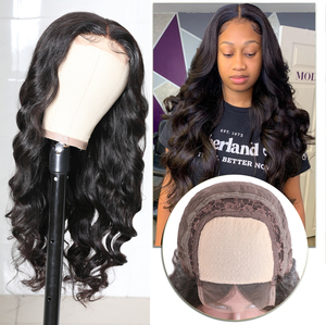 Image 3 - Brazilian 13x4 Lace Front Wig Pre Plucked Body Wave Human Hair Wigs with Baby Hair Ali Julia Lace T Part Closure Wig Fake Scalp