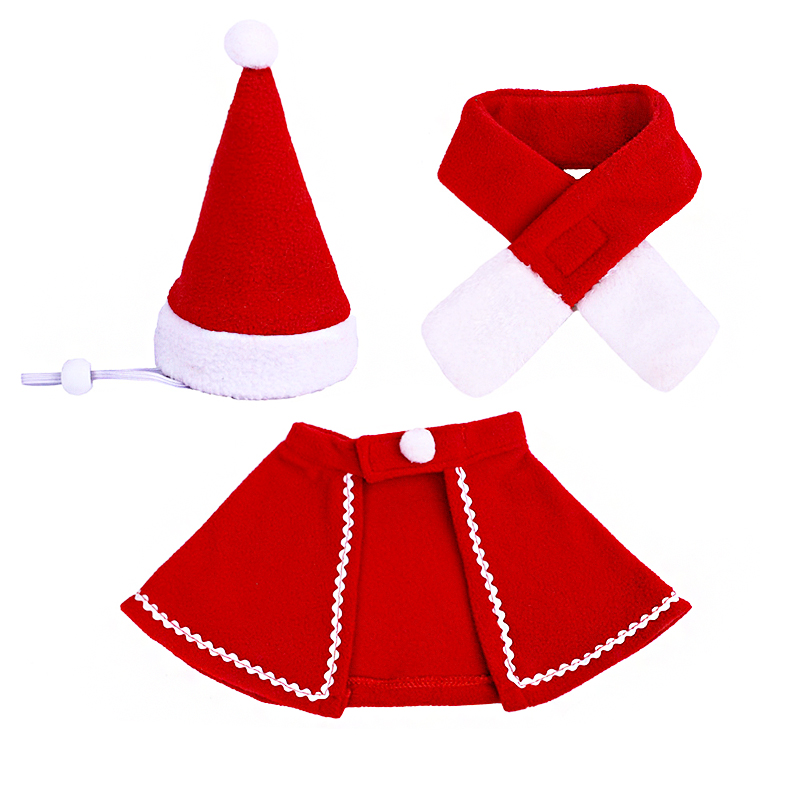 Pet Dog Cat Clothes Christmas Costume Cat Hat Scarf Cloak Dress Up For Kitten Puppy Small Dog Xmas New Year Costume Accessories 8