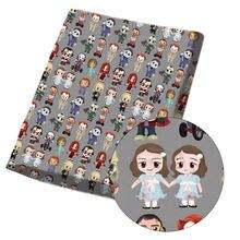 Xugar impresso poliéster algodão tecido de pano 45*140cm halloween tecidos diy sacos artesanato retalhos estofando costura têxtil casa