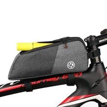 Waterproof Bike Top Tube Bag Mountain Mtb Front Bag 6.0inch Mobile Phon