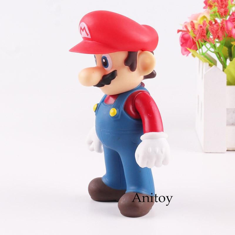 Mario Bro Figure Mario Action Figure PVC Collectible Toy for Kids Gift 12cm 1