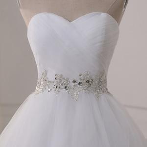 Image 5 - Jiayigong Voorraad Real Wedding Dresses Vestidos De Novia Sweetheart Sweep Trein Kant Applique Corset Trouwjurk Robe De Mariage