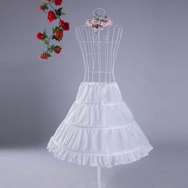 White Lady Swing Petticoat Short Sweet Pleated Mesh Skirt Wedding Lining Crinoline Women Wedding DanceGala Rockabilly Underskir