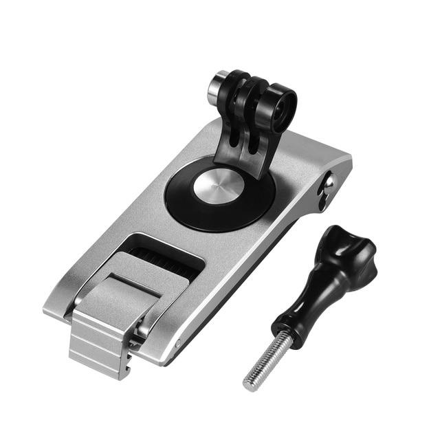 Aluminum Action Camera Backpack Shoulder Strap Clip Mount Strap Holder 360° Rotatable 6 level CNC Technology Action Camera Mount