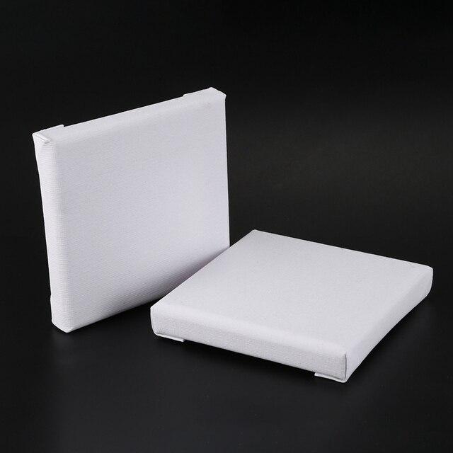 10 Stks/set Witte Lege Art Boards Mini Uitgerekt Kunstenaar Canvas Art Board Acryl Olie Verf Hout + Katoen Voor Kunstwerk schilderen