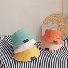 Baby Hat Summer Leisure Solid Bucket Hat Unisex Baby Sun Cap Children Boy Caps Girl Fisherman Hats