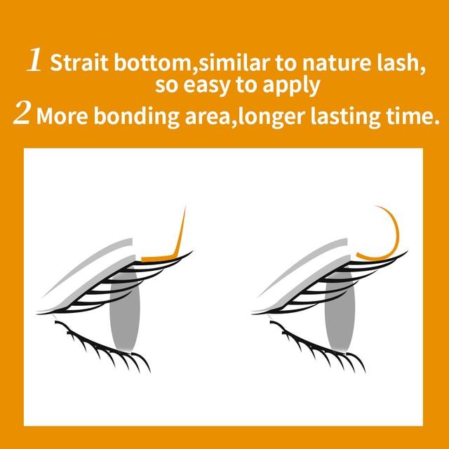 L/L+/LC/LD/LU/M Curl Mink Eyelashes Extension,16rows/tray Mix Matt Black Individual Eyelashes,N/l  Curl Makeup false Lashes 3