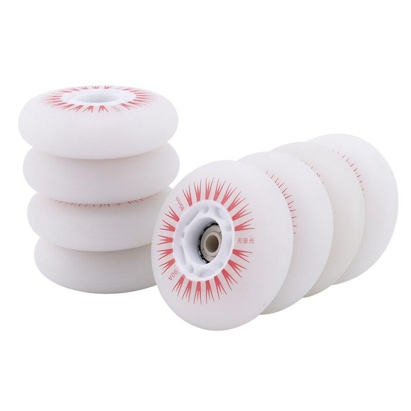 8PCS Roller Skates Flash Wheel Wear-Resistant High Elastic Wheel Pulley Sub-Aurora Luminous Wheels