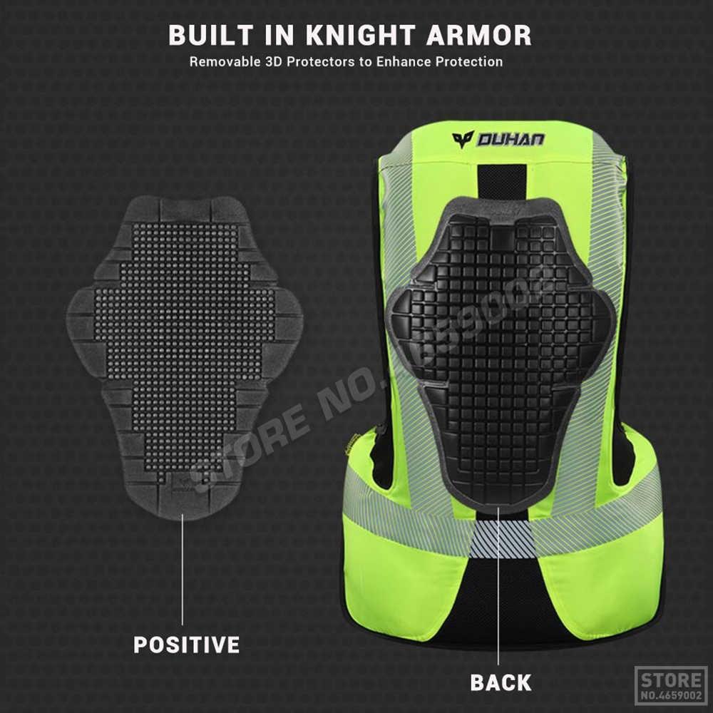 DUHAN Moto Airbag Moto gilet système d'airbag avancé équipement de protection réfléchissant Moto Airbag Moto gilet