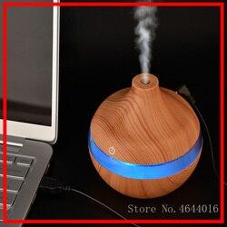 300ML USB elektryczny Aroma dyfuzor powietrza drewna ultradźwiękowy olejek eteryczny do nawilżacza wytwarzacz mgiełki do aromaterapii dla domu
