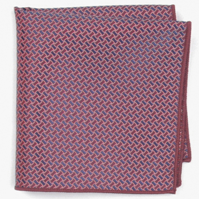 Violet Patterned Pocket Square With Patterns Handkerchief
