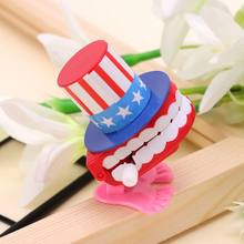 Clockwork Jumping Top Hat Denture Educational Toys Dentist Desk Decor Prank Game Q6PD(China)