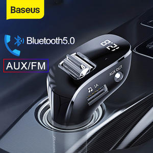 Baseus Bluetooth Adapter Mp3-Player Car-Kit Car-Charger Fm-Transmitter Car Aux Handsfree