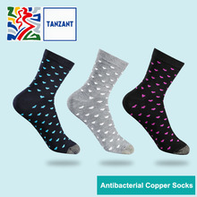 Tanzant Copper Socks Moisture Wicking Anti-microbial long Ankle Sport Antibacterial Socks jacquard design 5 Pairs цены