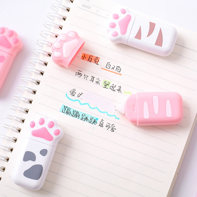 6m Cute Cat Claw Correction Tape Kawaii Korean Stationery Portable Promotional Gift Diary Creative Mini Student Office Supply