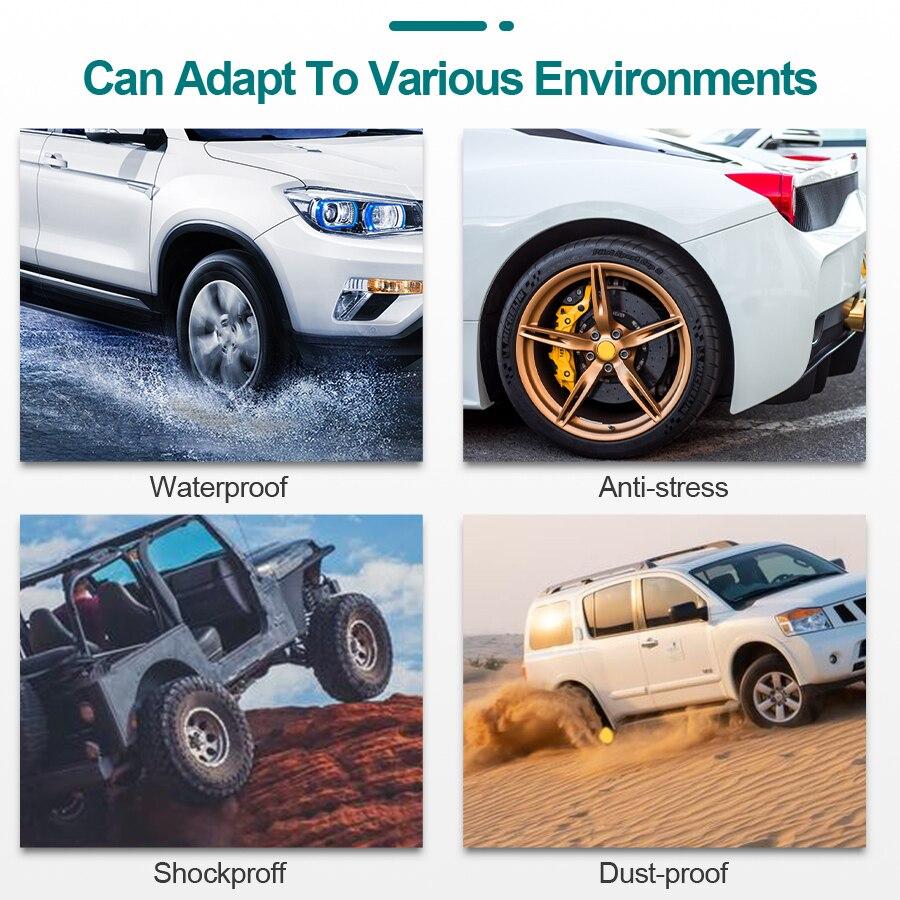E-ACE Car TPMS Tire Pressure Monitoring System Sensors Tyre Cigarette Lighter USB port Auto Security Alarm Monitoring