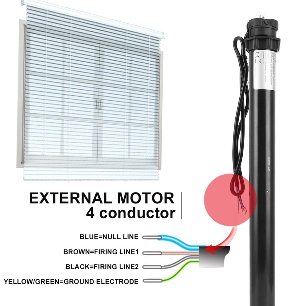 NEW Household 30Nm Roller Shutter <font><b>Motor</b></font> <font><b>230V</b></font> 60mm Electric Roller Blinds <font><b>Motor</b></font> Tubular Automatic Curtains <font><b>Motor</b></font> Limit <font><b>Motor</b></font> image