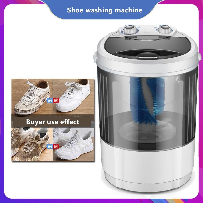 220V Household Electric Shoes Washing Machine Portable Mini Shoe Sock Washer EU/AU/UK/US Plug