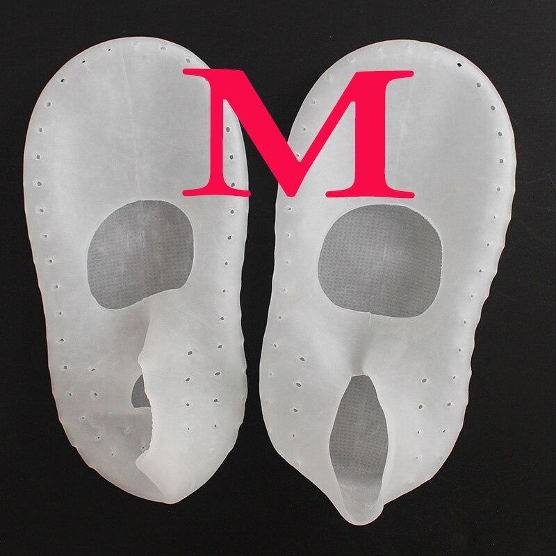 1 пара носки с гелевой подошвой, силиконовый инструмент для ухода за ногами, защита для ног, защита от боли, защита от трещин, увлажнение, удаление ороговевшей кожи, носок с отверстием - Цвет: M Clear 36-38