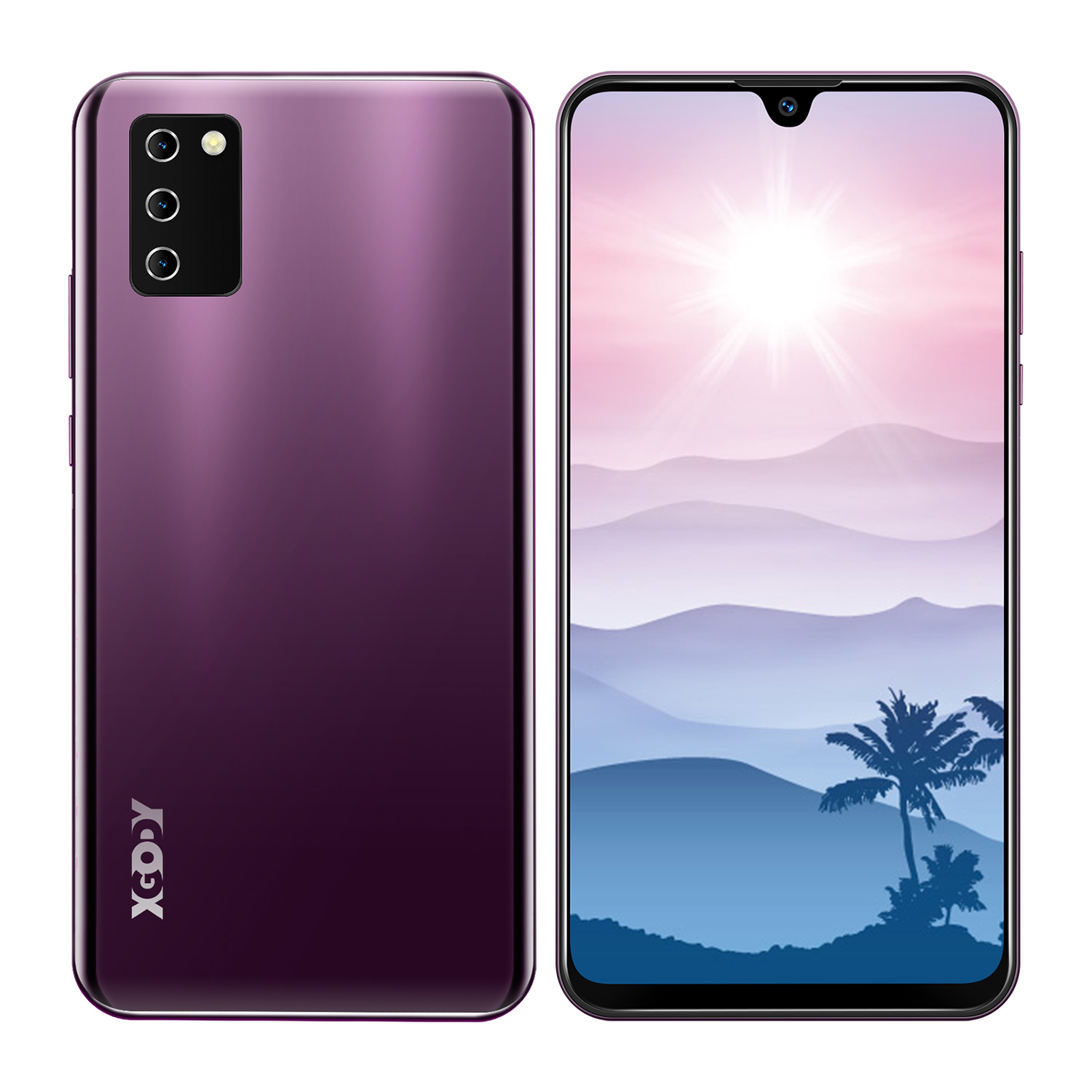 XGODY NOTE 10 Android 9.0 4G mobile phones 2GB RAM 16GB ROM Face ID 5MP Camera Dual SIM GPS WIFI 7.2″ 19:9 smartphone Quad Core