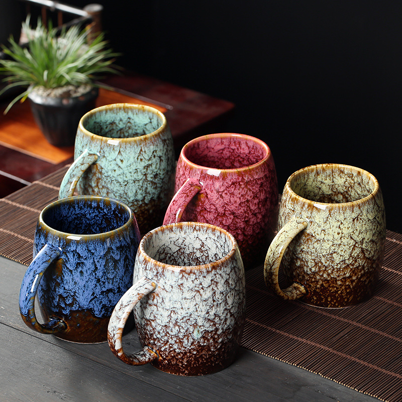Creative 480ml China Ceramic Mug Large Capacity Coffee Cup Kiln Baked Porcelain Milk Tea Mug Water Drink Cup Couple Gift Drinkwa