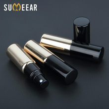 50 Pieces/Lot 5ml Portable Mini Aluminum Perfume Atomizer UV Glass Refillable Dispenser Spray Bottles Cosmetic Containers