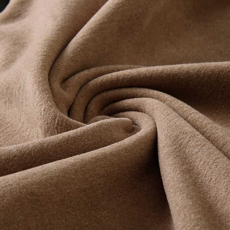 メンズファッションスタンド襟スリム長袖厚手の暖かいニットセーター/2019 秋と冬の男性のプルオーバー高品質のセーター