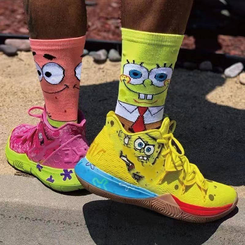 Fashion Cotton Personality Cartoon Character Socks Men And Women Casual Socks Unisex Harajuku Creative Hip Hop Skateboard Socks