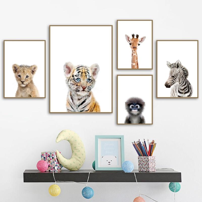 Safari Animal Nursery Wall Art Print