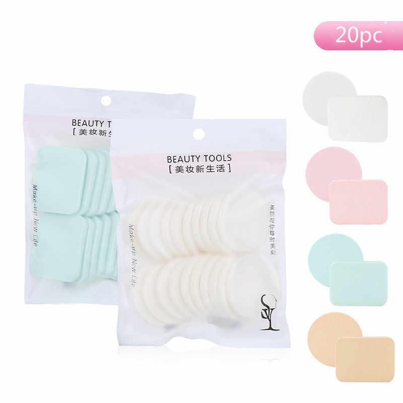 20 pcs Makeup Sponge Blender Puff Facial Sun Block Blush BB Cream Cosmetic Puff Blending Foundation Make Up Beauty Tool