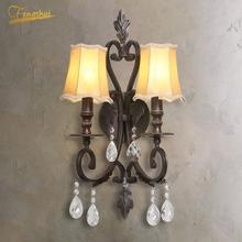 цены American LED Wall Lamp Lighting Retro Glass Wall Lights for Restaurant Bedroom Sconces Living Room Indoor Wall Lamps Fixtures