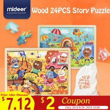 MiDeer 24PCS Jigsaw Puzzles for Children Puzzle Game Cartoon Educational Toys Kid Birthday Gift Set  Wood Design Boy > 3Y