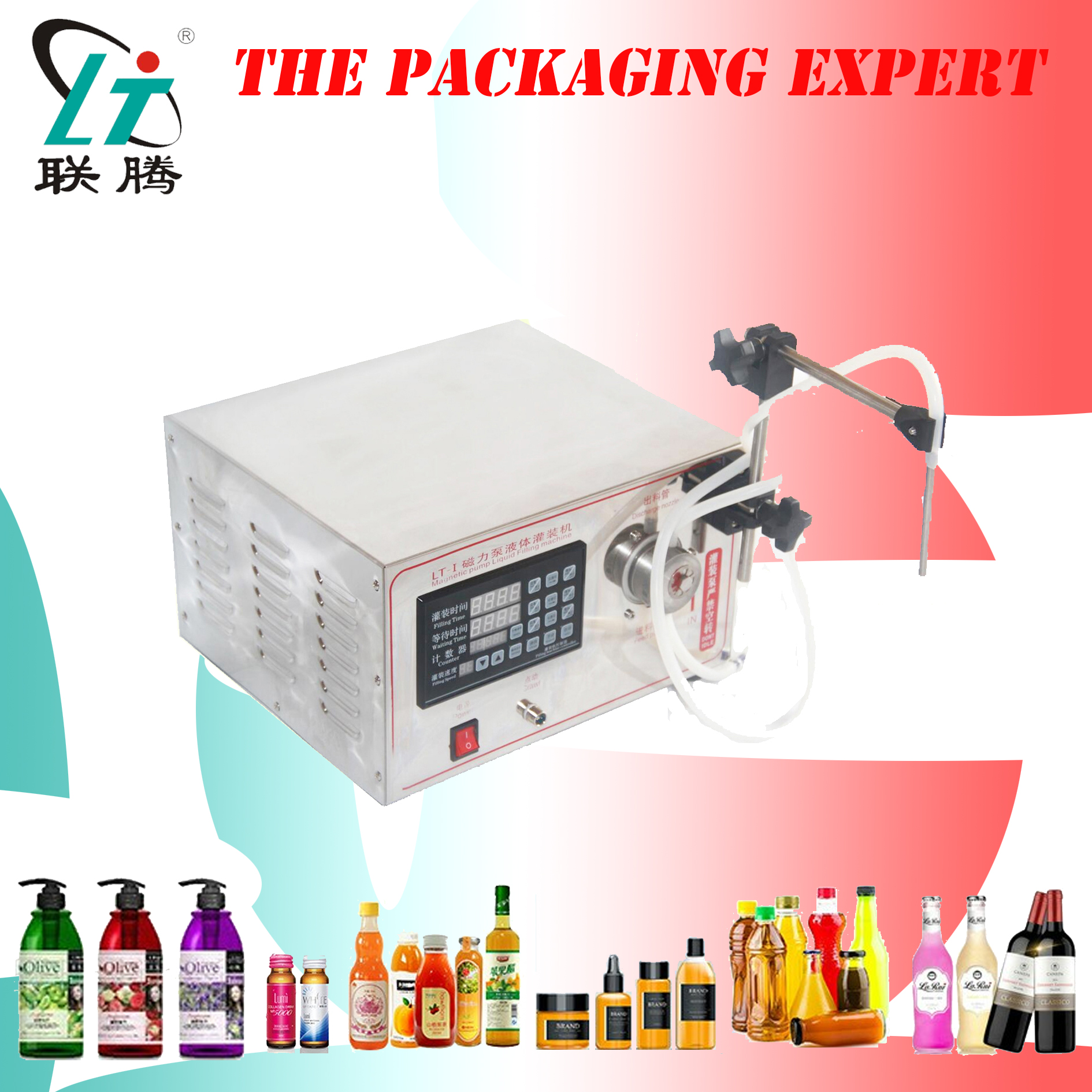 Magnetic Drive Pump Driven Liquid Filler For Oil Chemical And Other Acid And Base Liquid Highly Corrosive Fluid Free Shipping