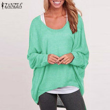 Stylish Tops ZANZEA Autumn Women Blouses Vintage Long Sleeve