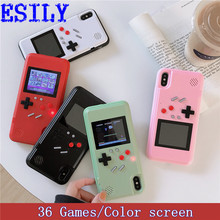 Cartoon Game Phone Case for iphone6s 6 7 8 Plus 3D Video Full screen protector Gameboy Cover for iphone11 Pro Max X Xs Xr Women